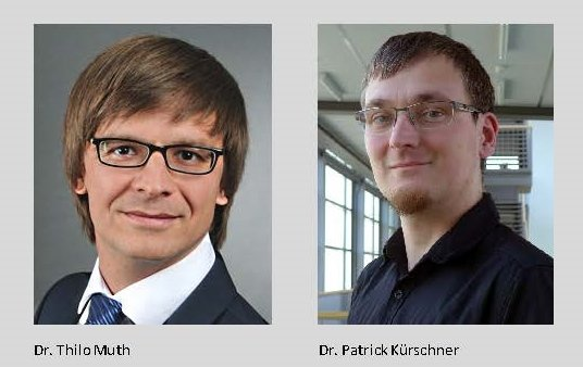 Dr. Thilo Muth, alumnus of the Bioprocess Engineering group, and Dr. Patrick Kürschner, researcher in the Computational Methods in Systems and Control Theory group, have been awarded each with a prize for their outstanding Ph.D. theses in acknowledgement of their scientific achievements.