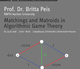 Magdeburg Lectures on Optimization and Control: Matchings and Matroids in Algorithmic Game Theory